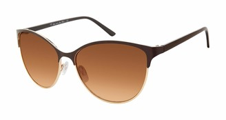 Tahari Women's TH763 Round Sunglasses with 100% UV Protection 59 mm