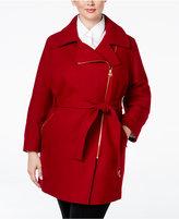MICHAEL Michael Kors Size Asymmetrical Belted Walker Coat