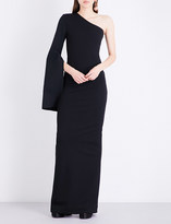 SOLACE London Yasbel stretch-crepe gown