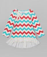 Flap Happy Vintage Chevron Ashley Hi-Lo Tunic - Infant, Toddler & Girls
