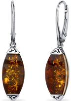 Ice Baltic Amber Sterling Silver Gallery Dangle Earrings