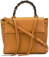 Elena Ghisellini top handle satchel bag - women - Cotton/Leather - One Size