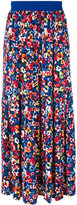 Love Moschino floral long skirt - women - Polyamide/Polyester/Spandex/Elastane/Viscose - 38