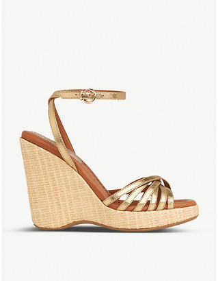 LK Bennett Solange leather wedge sandals