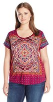 Lucky Brand Women's Plus Size Persian Carpet Tee