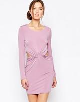 Glamorous Mini Dress with Tie Waist Detail