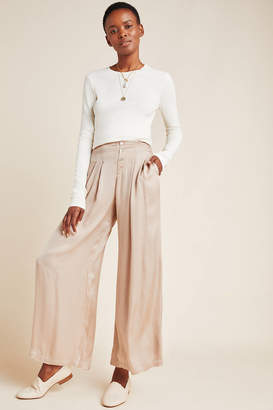 On The Road Pim Satin Wide-Leg Pants