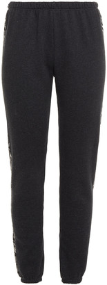 Wildfox Couture Striped Cotton-blend Fleece Track Pants