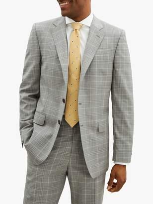 Jaeger Wool Check Regular Suit Jacket, Light Grey