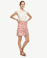 Ann Taylor Wave Stretch Cotton Skirt