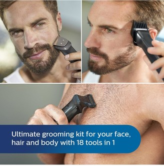 Philips Series 7000 18-in-1 Ultimate Multi Grooming Kit for Face, Hair and Body MG7785/20