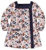 Baby Folk Bird Button Front Dress