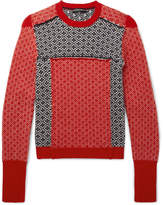 Alexander Mcqueen - Slim-fit Fair Isle Patchwork Wool And Cashmere-blend Sweater