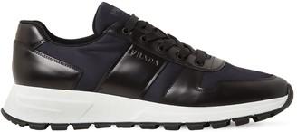 Prada Nylon Leather Sneakers