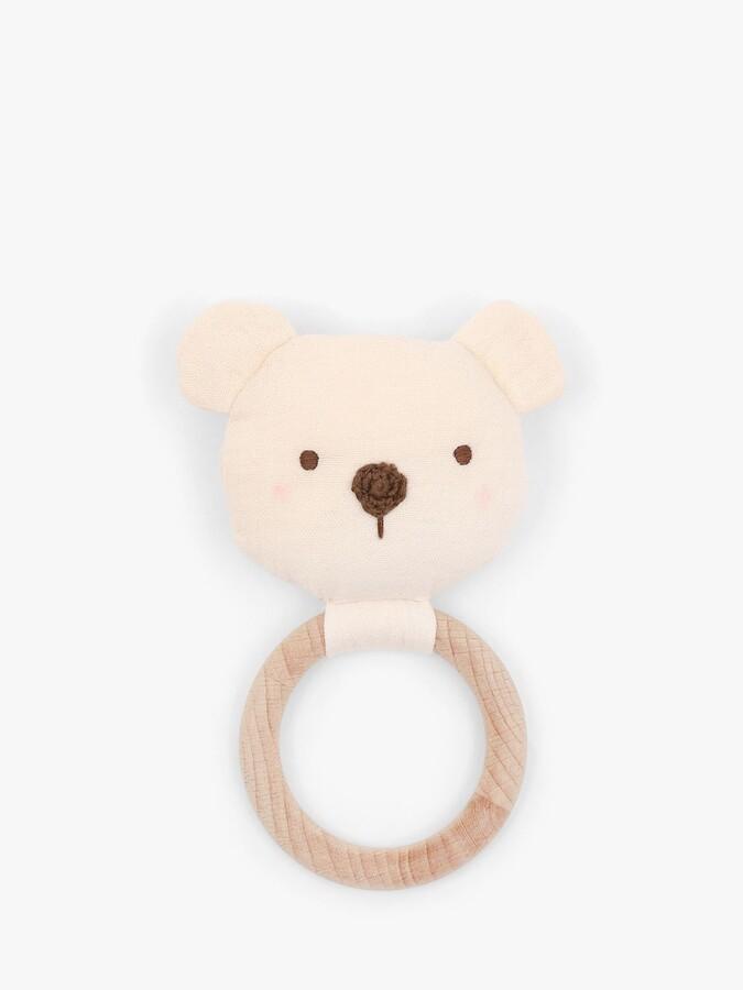 Albetta Bear Muslin Ring Rattle