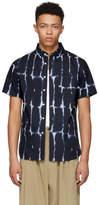 Saturdays NYC Navy Esquina Water Stack Shirt
