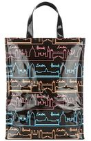 Harrods Neon City Medium Tote Bag