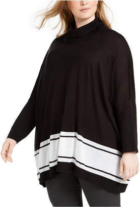 Calvin Klein Plus Size Pull-Over Poncho Sweater