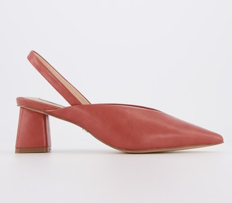 Office Melbourne Feature Heel Court Shoes Rust