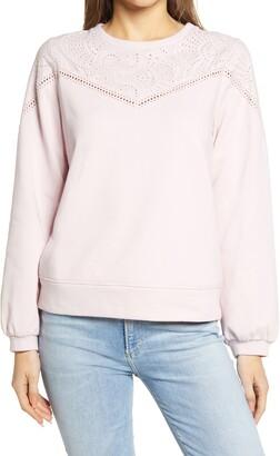 Everleigh Eyelet Sweatshirt