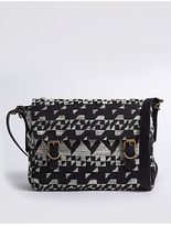 M&S Collection Jacquard Messenger Bag