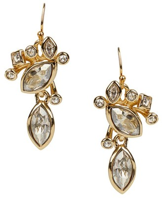 Alexis Bittar 10K Goldplated & Navette Crystal Cluster Drop Earrings