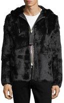 Bally Rabbit Fur Jacket with Trainspotting Stripe