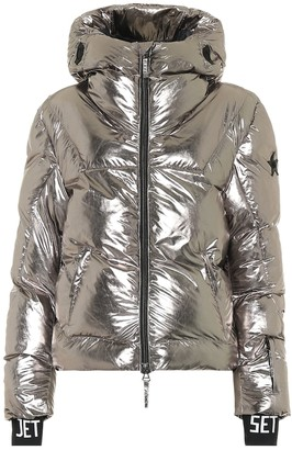 Jet Set Julia metallic padded ski jacket