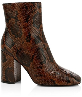 Ash Jade Python-Embossed Leather Ankle Boots