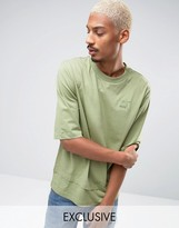 Puma Oversized Double Hemmed T-Shirt In Green Exclusive to ASOS