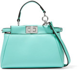 Fendi Peekaboo Micro Leather Shoulder Bag - Turquoise