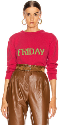 Alberta Ferretti Friday Sweater in Fantasy Fuchsia | FWRD