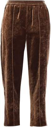 Brunello Cucinelli Cropped Velvet Tapered Pants