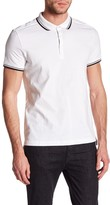 Kenneth Cole New York Contrast Trim Polo Shirt