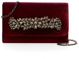 Sondra Roberts Velvet Jeweled Handle Clutch