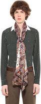 Roberto Cavalli Polka Dot & Dragonfly Silk Crepe Shirt