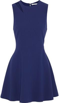 Alice + Olivia Pearlie Flared Cutout Crepe Mini Dress