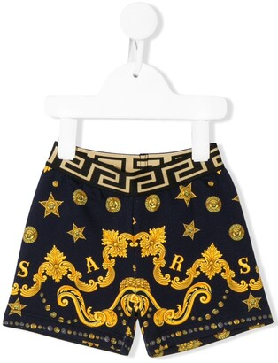 Versace baroque star print shorts