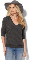 New York & Co. Shadow-Stripe Dolman Sweater