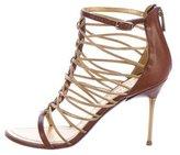 Emilio Pucci Leather Cutout Sandals