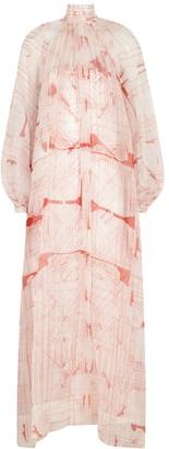 Mark Kenly Domino Tan Damara Ivory Printed Maxi Dress