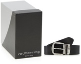 Red Herring Black Leather Belt In A Gift Box