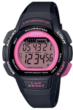 Casio Women's Digital Black Resin Strap Watch 37.2mm