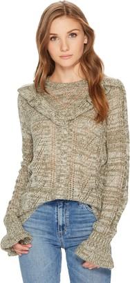 Kensie Women's Ruffle Pullover Sweater