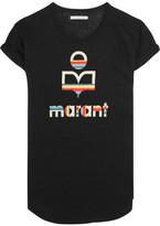 Etoile Isabel Marant Koldi Printed Slub Linen-jersey T-shirt - Black