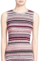Tanya Taylor 'Ash' Stripe Sleeveless Ribbed Top