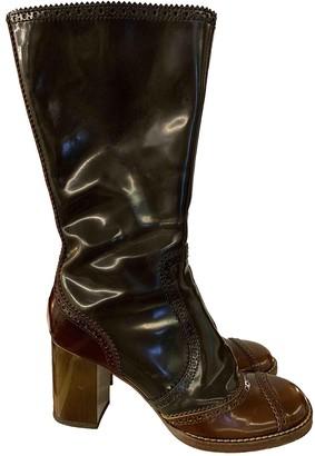 Dolce & Gabbana Multicolour Leather Boots