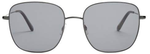 Garrett Leight Tuscany 55 Square Frame Sunglasses - Womens - Dark Grey