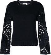 See by Chloe lace sleeve sweater - women - - S