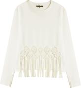 Tibi Fringe Sweatshirt